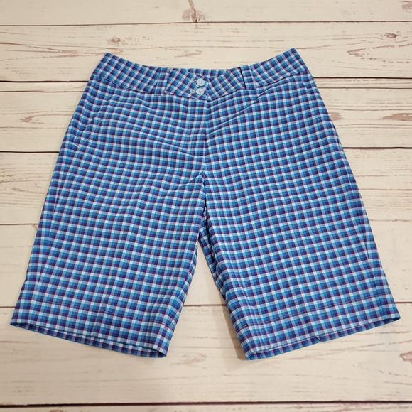 Nike Pants - Women's Nike Golf Plaid Shorts Size 6